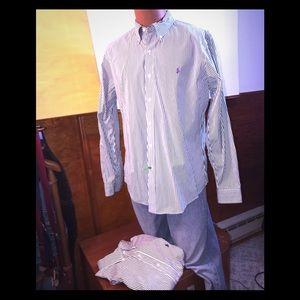 Ralph Lauren stripe shirts Yes 2one Black 1 green